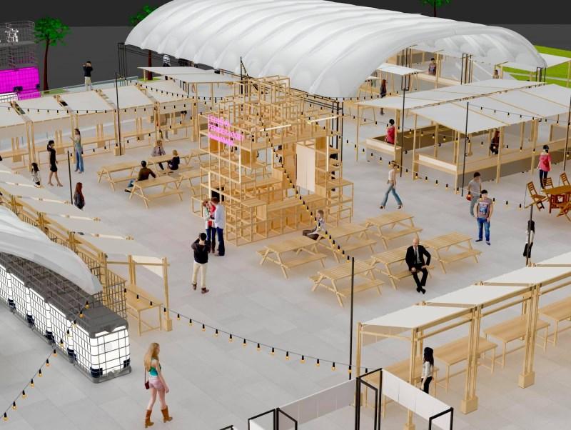 全台最美夜市富地市場暫駐草悟廣場,準備打造夢幻市集!